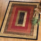 Western Rustic Panel Rug Various Sizes and Shapes with FREE Shipping