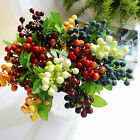 Home Wedding Artificial Floral Berry Leaf Fake Flower Bouquet Party Decor 1PC
