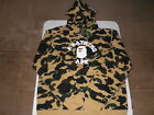 Authentic APE BAPE 1ST CAMO COLLEGE ATS PULLOVER HOODIE YELLOW XL XXL NEW RARE