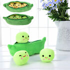 Kids Girls Toy Emoji 3 Peas Pod Plush Soft Lovely Stuffed Doll Pillow 25 -40cm