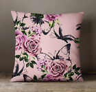 S4Sassy Floral Print Throw Dusty Light Pink Cushion Case Square Pillow Cover