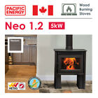 Wood Burning Stove in Titanium with Optional Fan- NEO 1.2 - 5kW - CLEARANCE