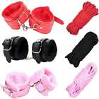 Unisex - PU Leather Wrist Handcuffs Ankle Cuffs Shackles Rope Couple Flirting Sex Toy