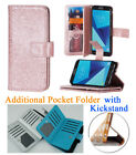 for Samsung J7 Perx HALO J7 V Case Glitter Wallet Stand Pouch Screen Flip Cover