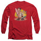 Betty Boop SURF BOARD Felix the Cat Licensed Adult Long Sleeve T-Shirt S-3XL $32.93 USD on eBay