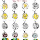 NEW Stainless Steel Pendant Necklace Aroma Essential Oil Diffuser Locket Gift