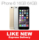 AS NEW iPHONE 6 16GB 64GB LTE 4G GSM GREY GOLD SILVER  100% UNLOCKED MR