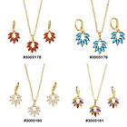CZ Stone Fashion Jewelry Gold Plated Necklace Set 3005178,179,180,181