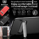 Baseus Kickstand Phone Case Luxury PU Leather + Metal Back Cover For iPhone X
