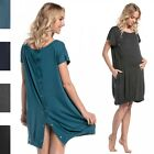 Happy Mama. Women's Labor Delivery Hospital Gown Breastfeeding Maternity. 097p