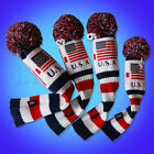 USA Flag Patriots Knit Golf Headcovers Club Protector for Driver Fairway Hybrid