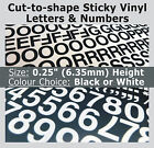 "1020 x Sticky Letters & Numbers 0.25"" , Self-Adhesive , Plastic Vinyl Lettering"