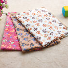 Warm Pet Mat Large Paw Print Cat Dog Puppy Fleece Soft Blanket Bed Cushion