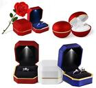 LED Light Propose Engagement Ring Boxes Jewelry Storage Case  For lovers Wedding