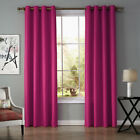 A pair Solid Window block Blinds Blockout curtain eyelet top hot pink 220 240