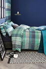 NEXT Bedding - Teal Bed Set, (Check & Stripe), Double and King sizes