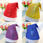 Christmas Hat with Sequins Cap for Santa Claus Costume Xmas Party Decor BIUJ