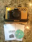 Nikon D5300 24.2MP DSLR Body Only A+ Condition - With Packaging - Retail $600
