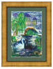 Art Print ''Swans In An Alcove'' Small or Large Framed