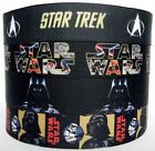 "1m x 7/8"" Star Trek / Star Wars Darth Vader / Storm Trooper Grosgrain Ribbon"