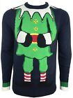 Mens Christmas Jumper Xmas Novelty Knitwear Sweater Elf Snowman Bnwt