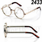 Steampunk Clear Lens Glasses Round Metal Frame Circle Fashion Mens Womens Retro