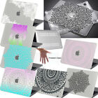 Ethnic Ornament Hard Clear Frosted Painting Case Cover for Laptop Macbook Laptop