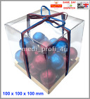 1 - 25 TRANSPARENT CLEAR CUBE FAVOUR BOX 100x100x100mm WEDDING GIFT FAST CHEAPES