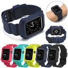 Rubber Wrist Band Strap+ iWatch Case For Apple Watch 42/38mm Smart Sport Edition