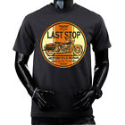 LAST STOP MOTORCYCLE REPAIR Biker Garage Mechanic T-shirt image