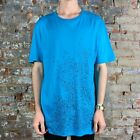 WESC Icon Blocks Casual T-Shirt, Tee Brand New - in Blue Size: L