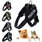 Adjustable Dog Harness Reflective Vest & 2 Patches Safety for Dog Training XS-XL