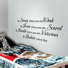 Be Strong When You Are Weak Wall Decal Inspired Quote Nursery Room Vinyl Decor