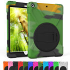 For iPad 9.7 2017 5th Gen A1822 A1823 Hybrid Shockproof Rubber Stand Case Cover