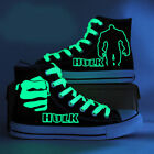 The Hulk Anime Shoes Hand Painted Canvas Shoes Unisex Luminous High Top Sneakers