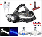 50000LM 5xXM-L T6 LED Rechargeable 18650 USB Headlamp Head Light Torch Zoomable