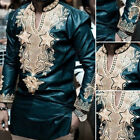 African Long Sleeve Dresses Dashiki Men's T-Shirt Tribal tee Men's Tops Blouse