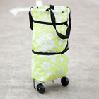 Waterproof Portable Grocery Cart With Wheels Foldable Wheeled Shopping Cart Bag
