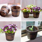 4Style Pick Planter Wooden Garden Treasure Round Barrel Outdoor Pot Home Decor