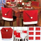 Christmas Santa Hat Dining Chair Back Covers Party Xmas Table Decoration Gift