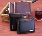 Fashion Mens  Leather Bifold Wallet Credit/ ID Card Holder Slim  Purse USA