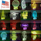 3D LED Decor Night Light Table Desk Lamps Children Bedroom Gifts 7 Color $23.73 USD on eBay