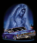 """Virgin City"" Mary Lady of Guadalupe Blessing Lowrider Car Urban City Art Poster"