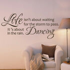 Life isn't About Waiting Wall Decal Inspiration Quote Removable Vinyl Room Decor