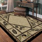 Brasstown Pine Cone Area  Rug Various Sizes and Shapes with FREE Shipping