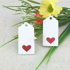Craft Rectangle White Labels With Love Heart Gift Hang Tags Jewellery Handmade