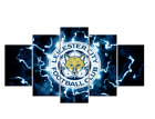 5 Piece Leicester City Football Club Modern Canvas Wall Art Picture Landscape