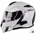 CASCO MODULARE CON INTERFONO BLUETOOTH V271 ORIGINE DELTA MOTION WHITE X YAMAHA