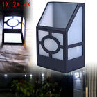 Solar Powered Wall Mount LED Light Outdoor Garden Path Landscape Fence Yard Lamp