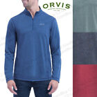 Orvis Men's ¼ quarter Zip Pullover Sweater charcoal blue denim green red
